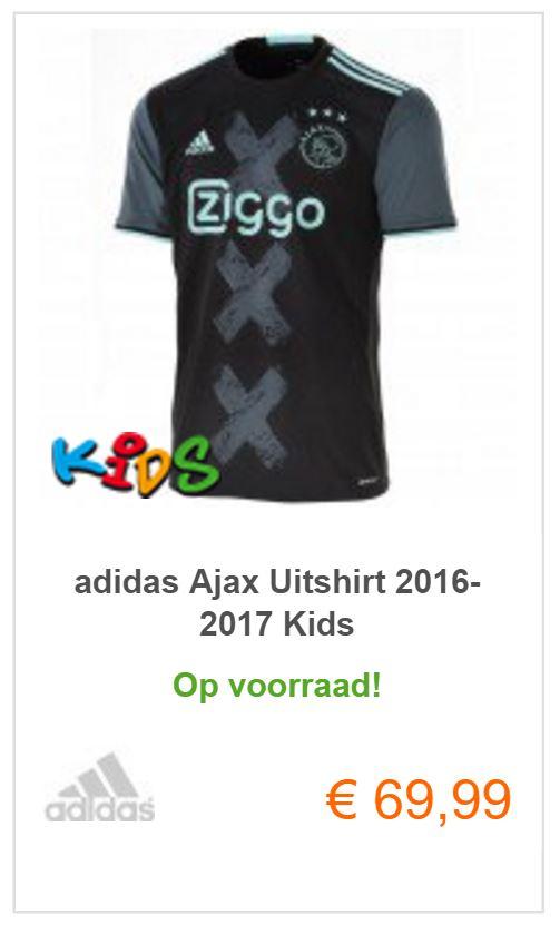ajax uitshirt voor kids