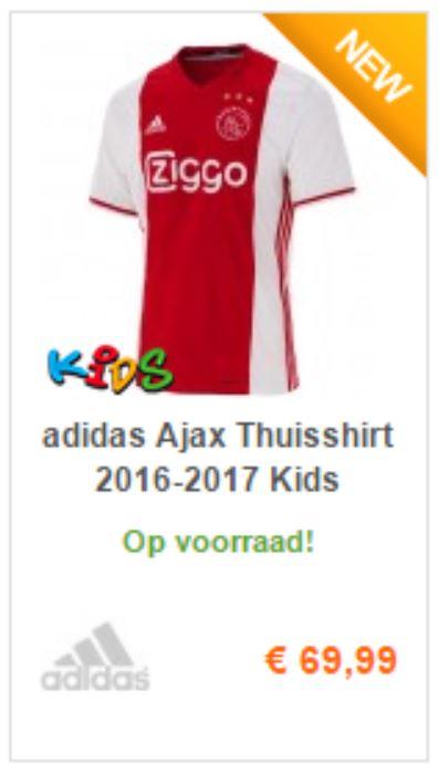ajax thuis shirt voor kids 2016 2017