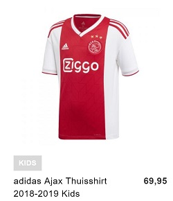 Ajax thuis shirt kids