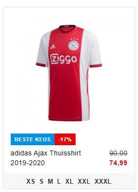 Ajax shirt 2017 2018